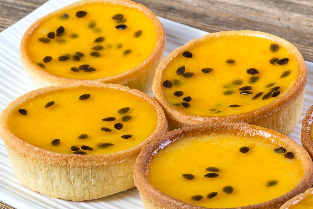 Passion fruit tart - Food photography closeup