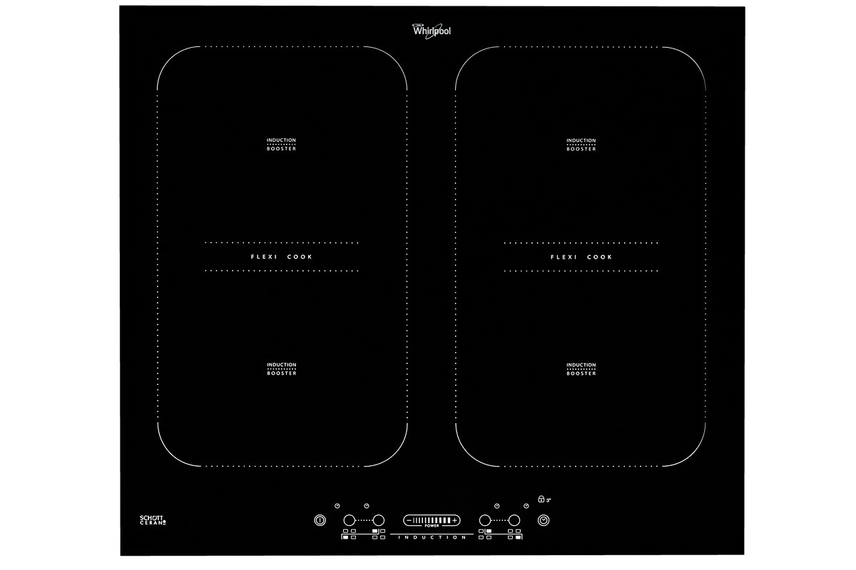 Induction cook top Front on shot