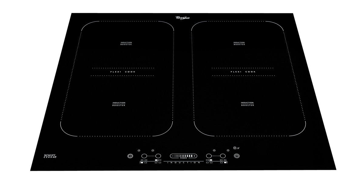 Induction cook-top front on angled down shot