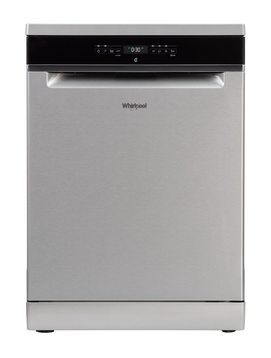 Advertising Product photography of whirlpool dishwasher front on door closed