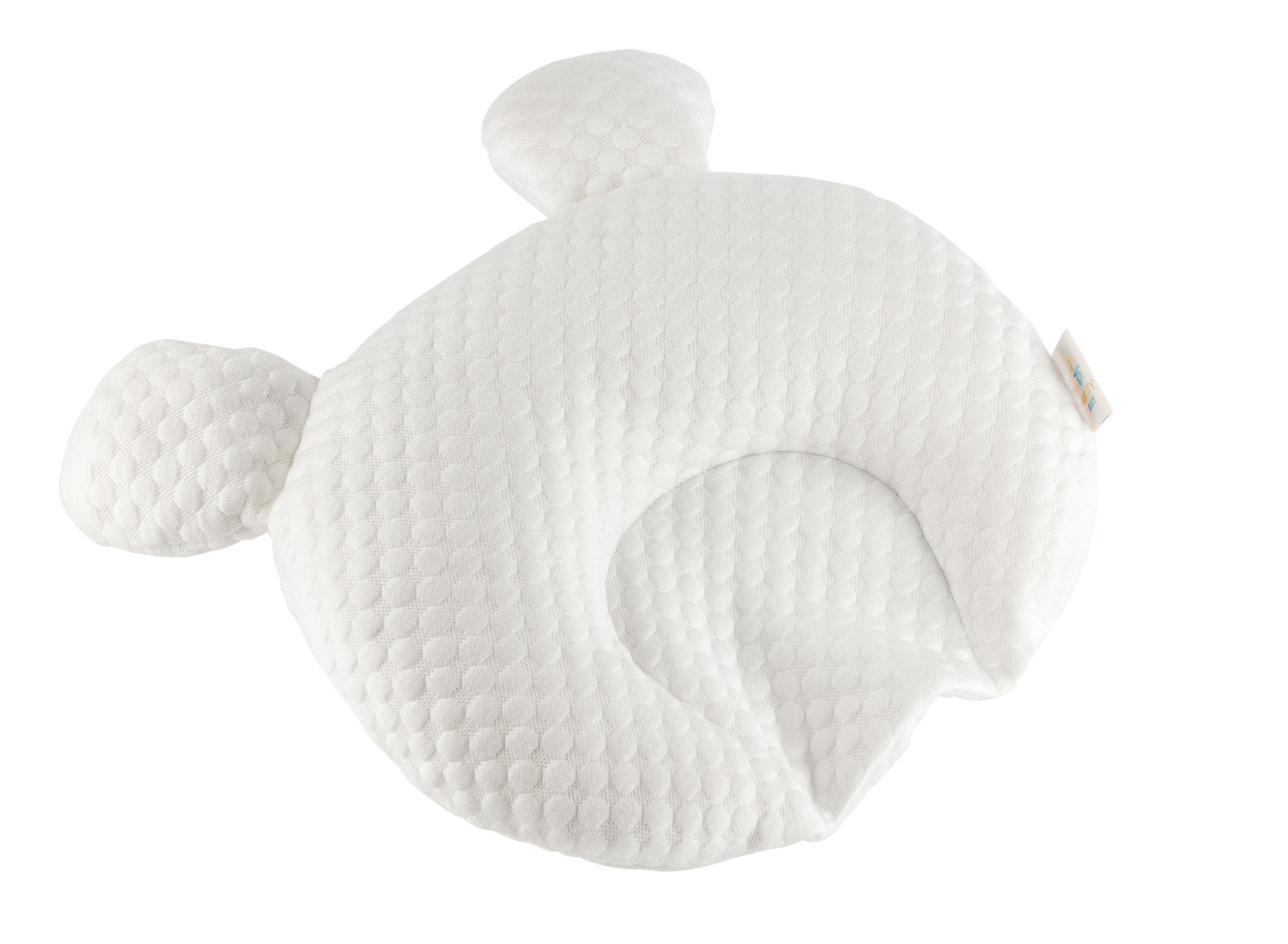 Baby Pillow Over top side view no Background_- Advertising product photography for Amazon