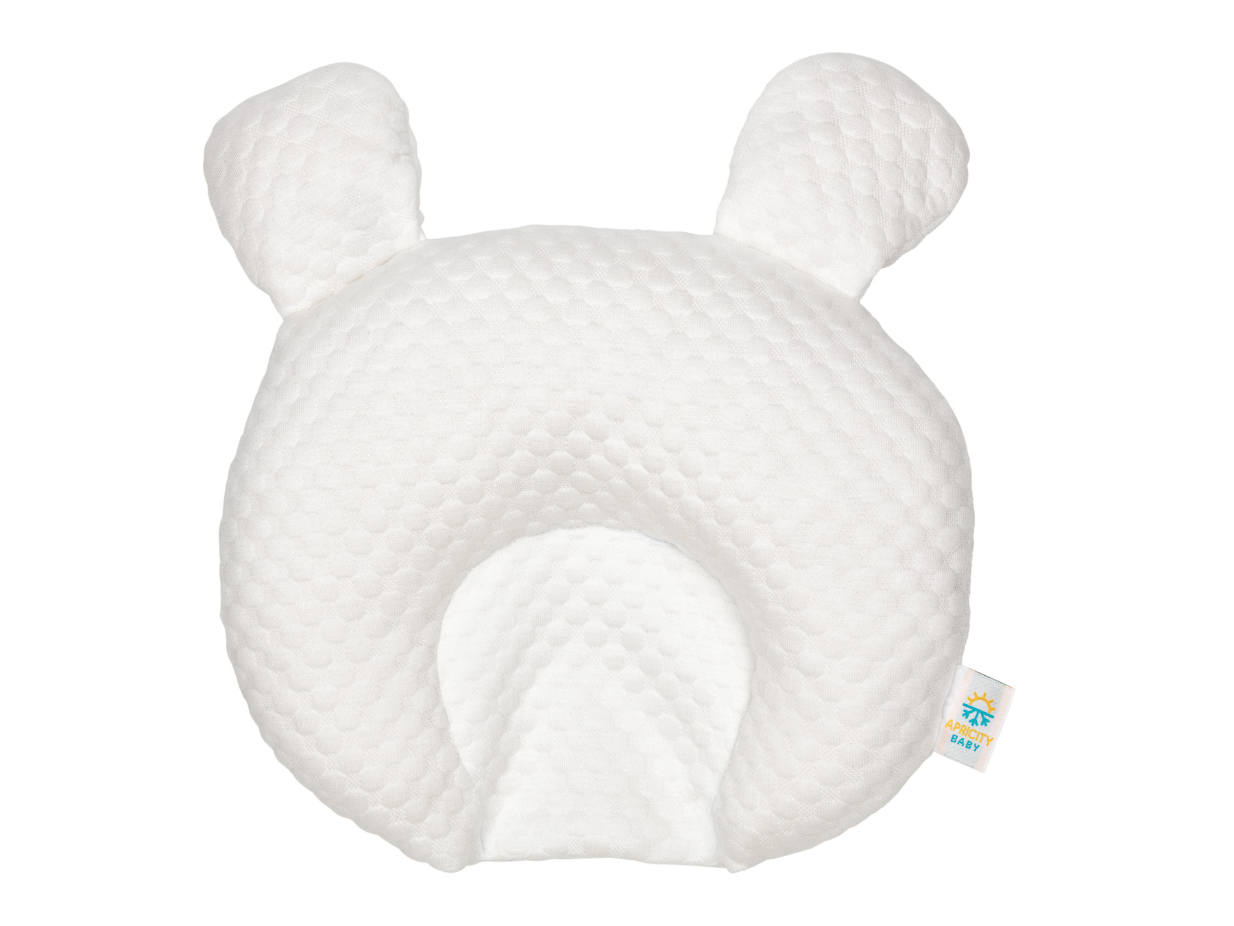 Baby Pillow lay flat front on without background_- Advertising product photography for Amazon