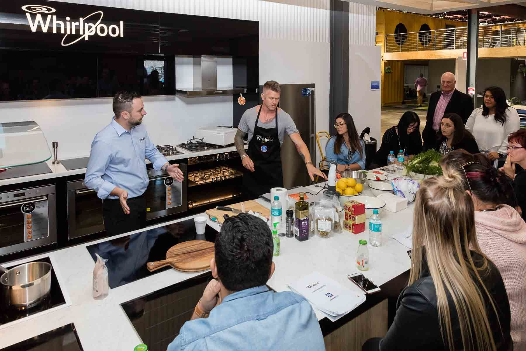 Business event for Whirlpool and The Good Guys - Appliance demonstration