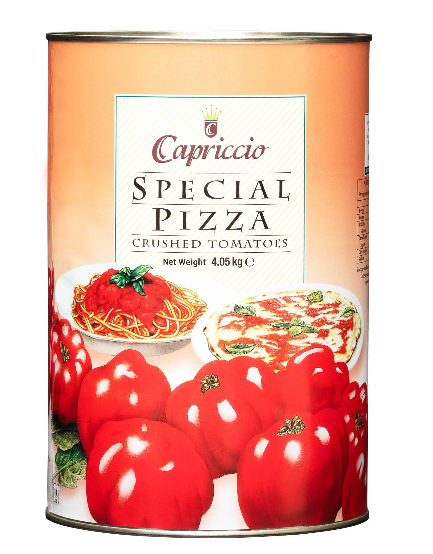 Special Pizza Crushed Tomatoes 4.05KG - Product Photography sample