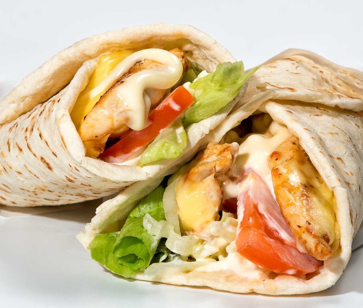 Chicken Wrap Closeup