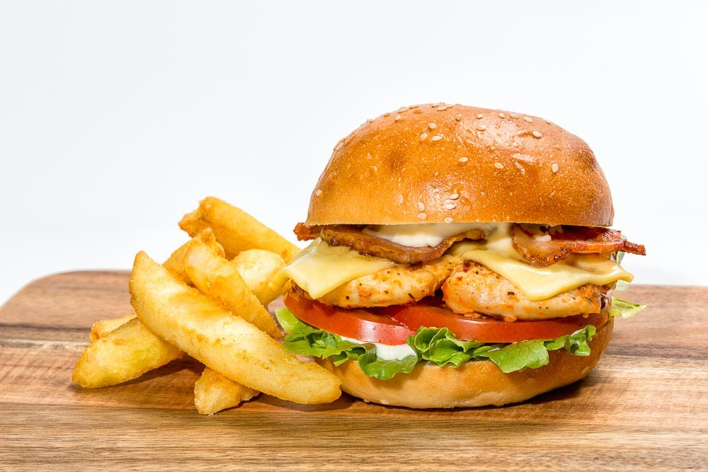 ChickenBurger With Fries