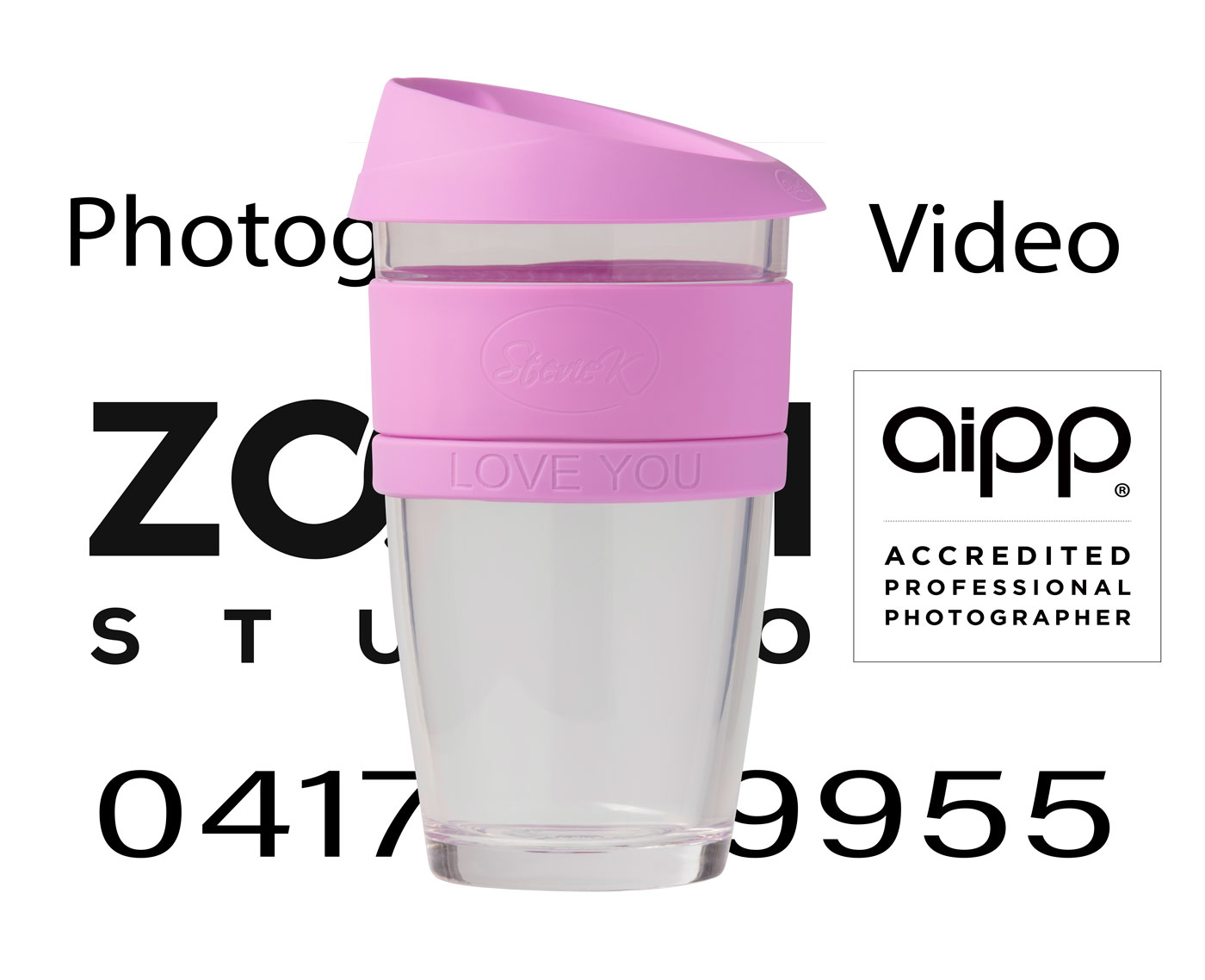 Coffeecup large pink over Zoom Studio Logo Edge transparency