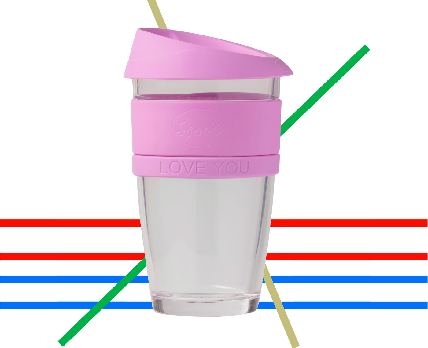 Coffeecup large pink over colour lines edge transparency