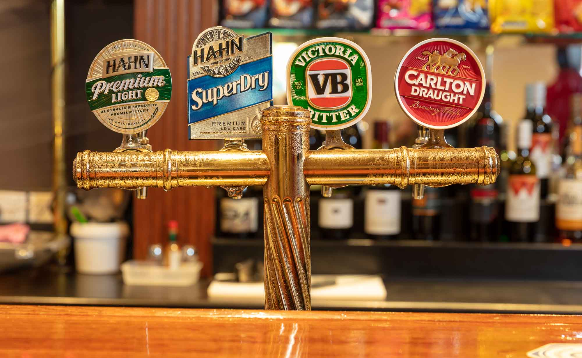 Commercial Bar photography sample - Beer taps