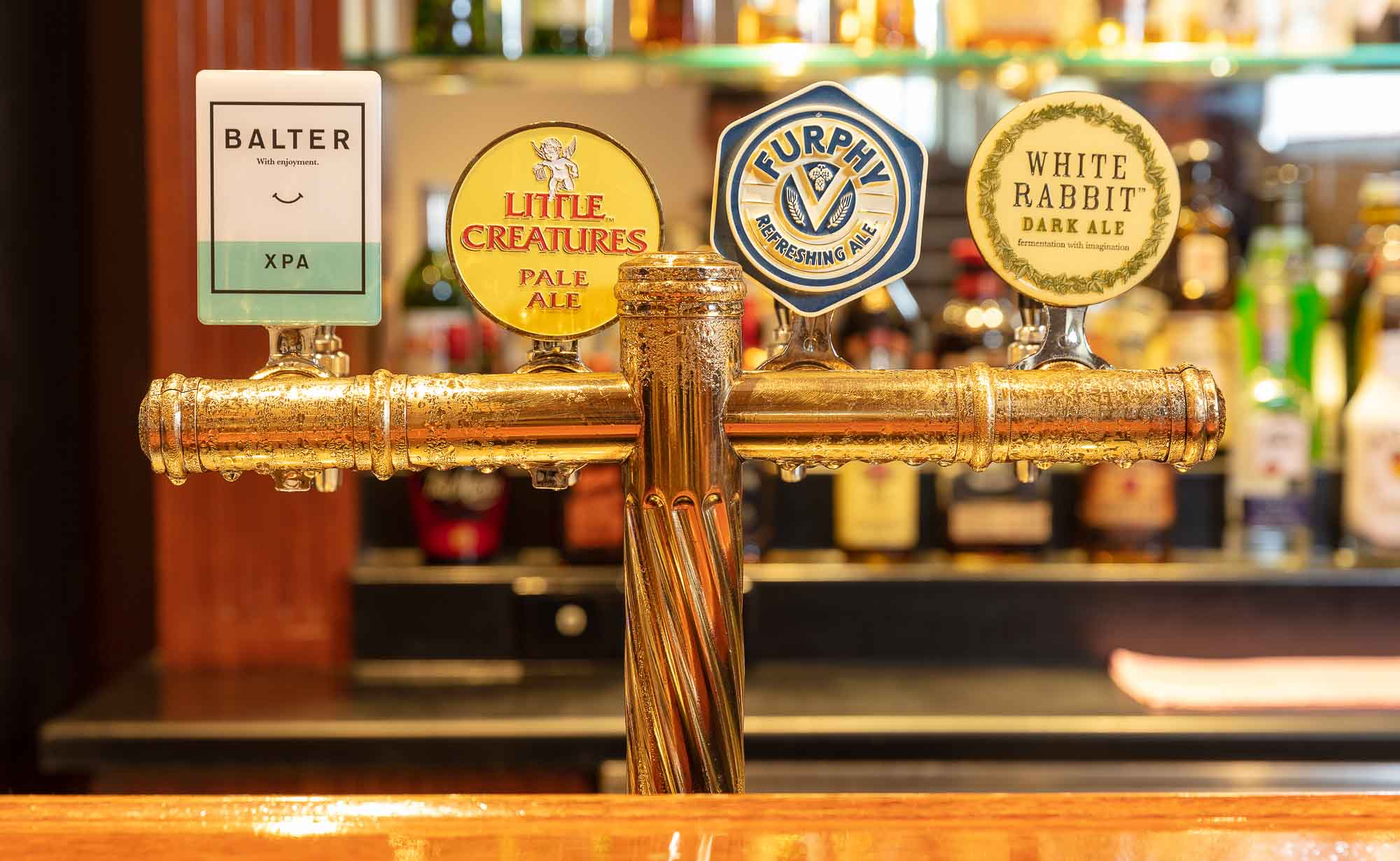 Commercial Bar photography sample - Beer taps2
