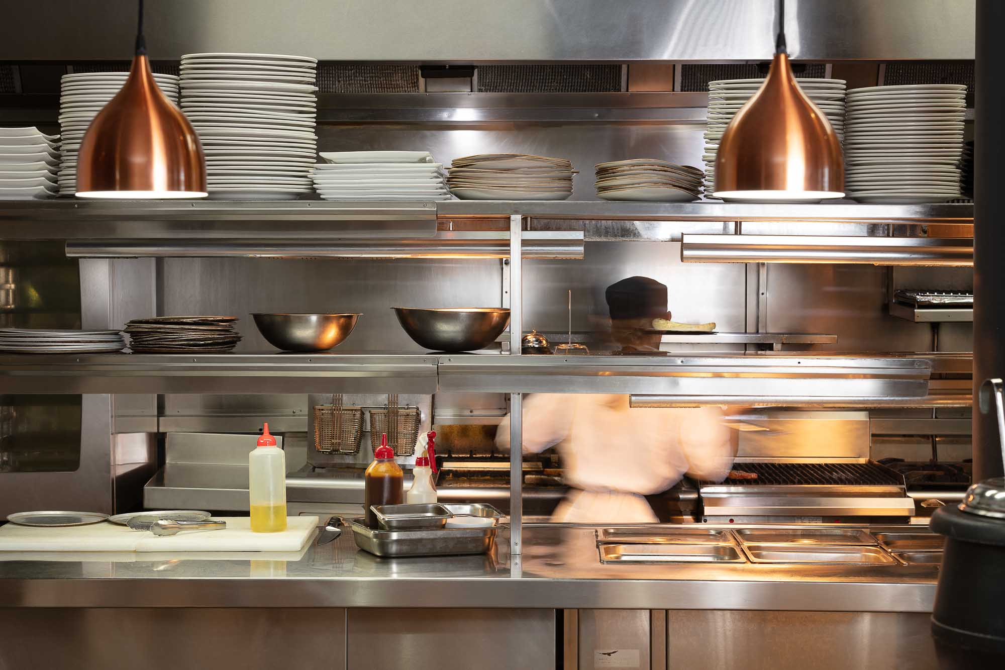 Commercial Bar photography sample - Food preparation area