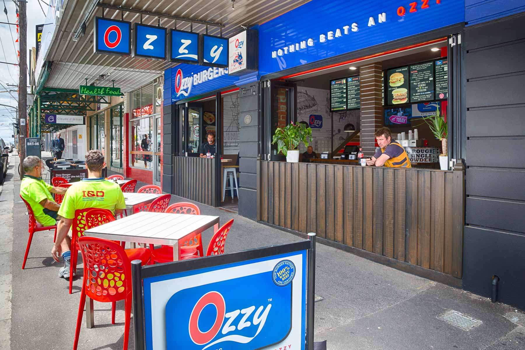 Commercial photography front of fast food outlet