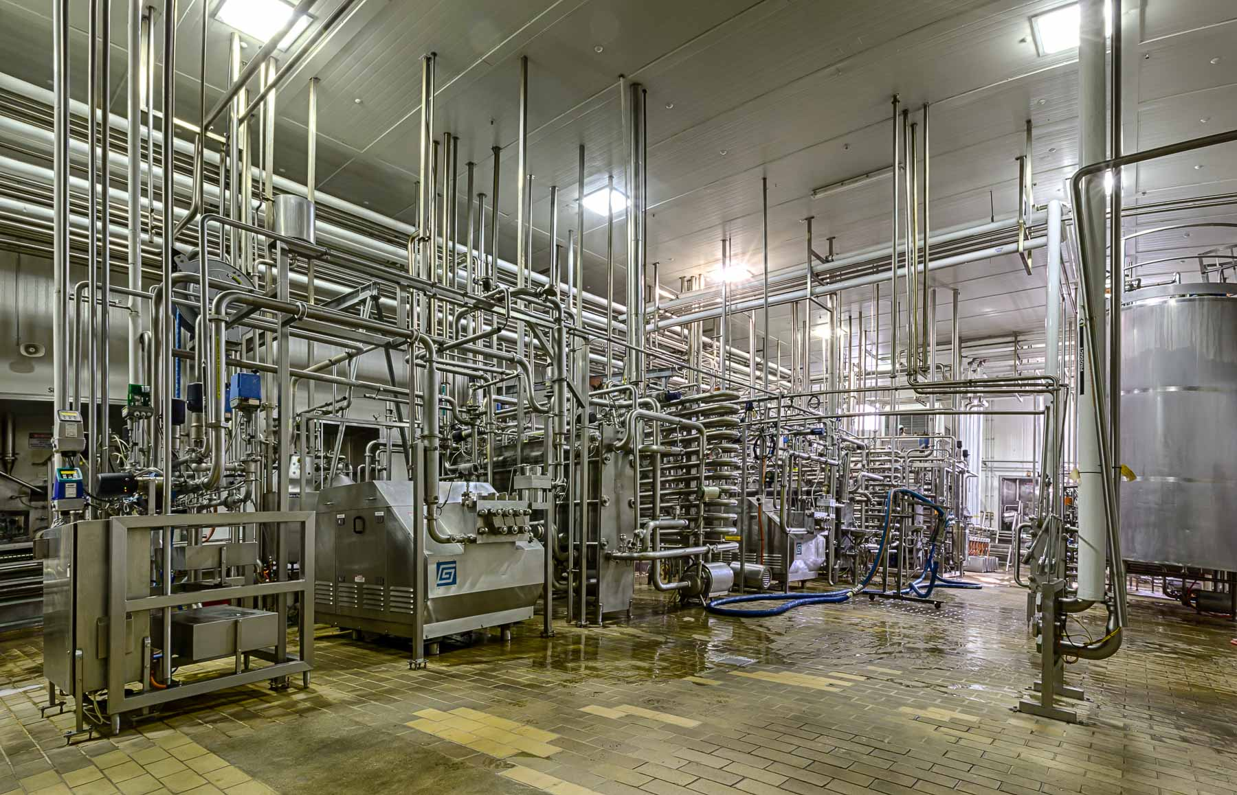 Commercial photography inside factory