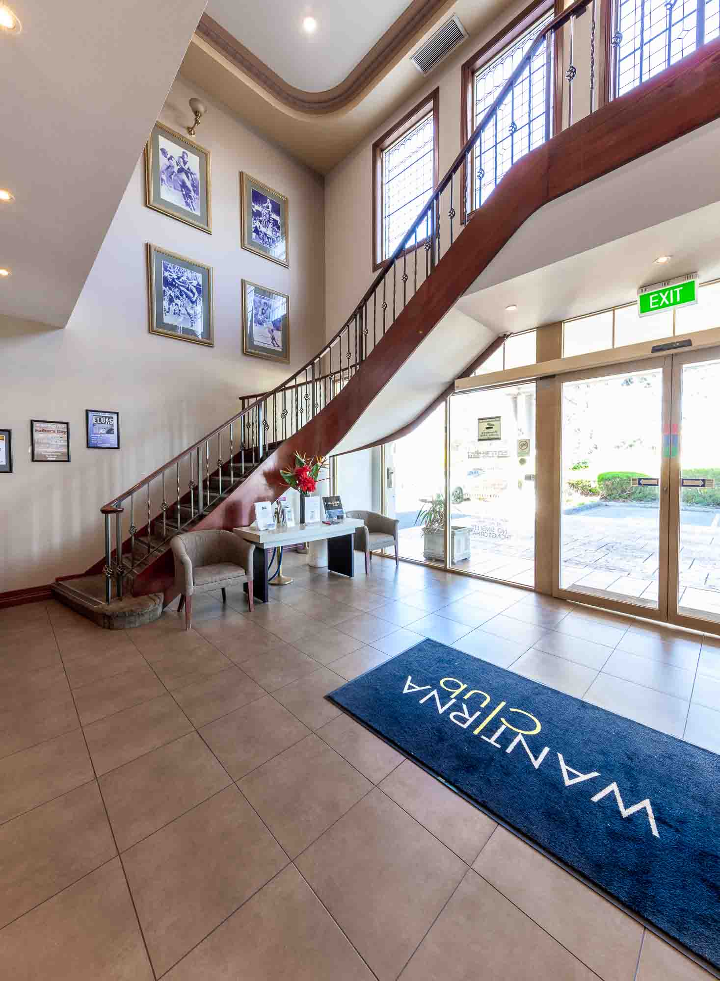 Commercial photography sample - Wantirna Club entry area