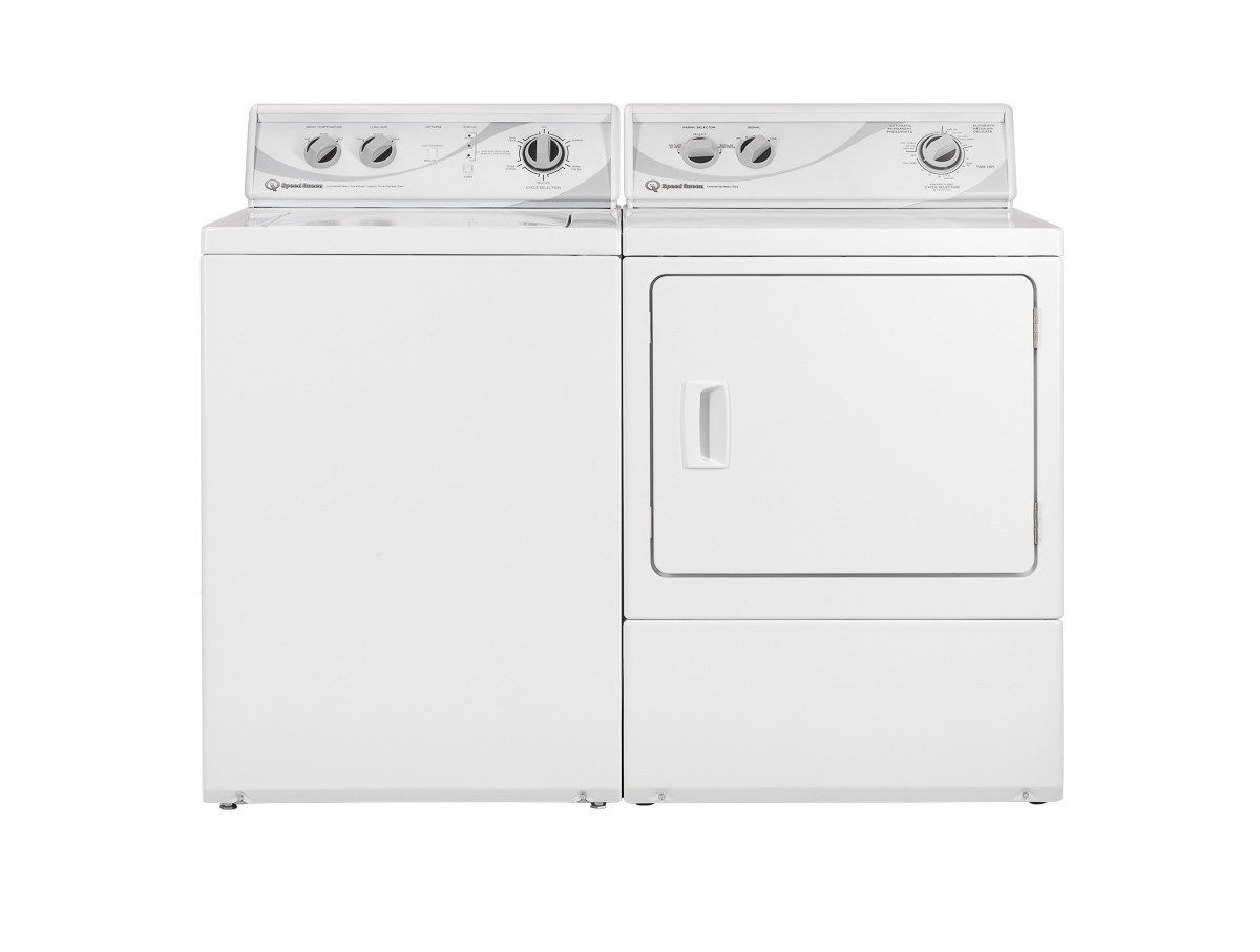 Commercial top load washer Speed Queen_SQ washer and dryer pair