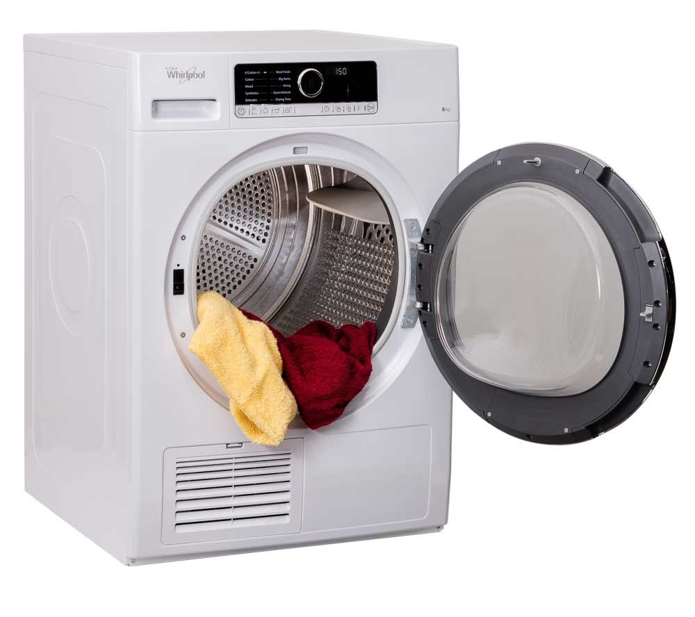 Large product photography sample with washer DSCR803020 on 45 Right Angle shot with door open