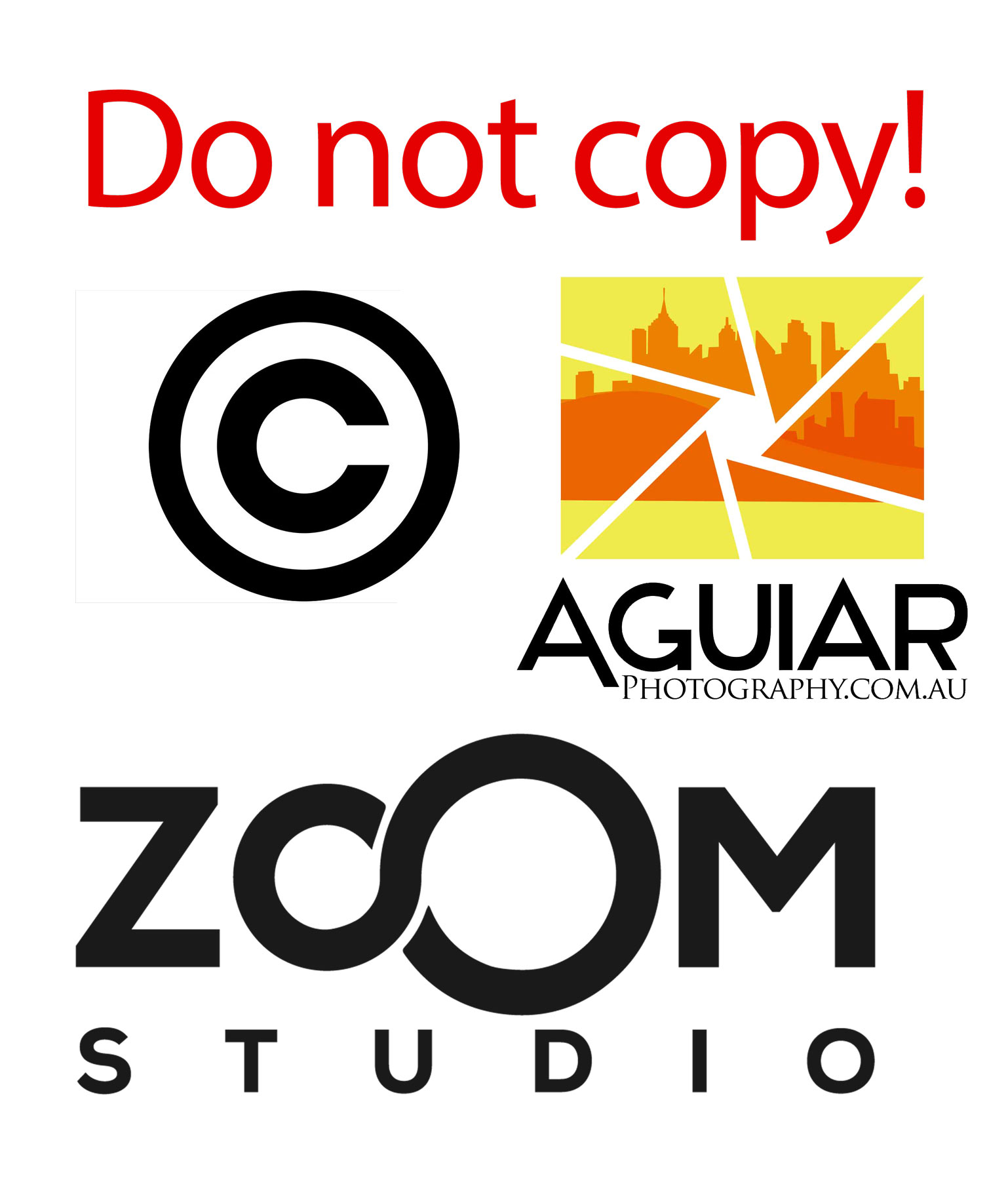 Do not copy aguiar photography and zoom studio