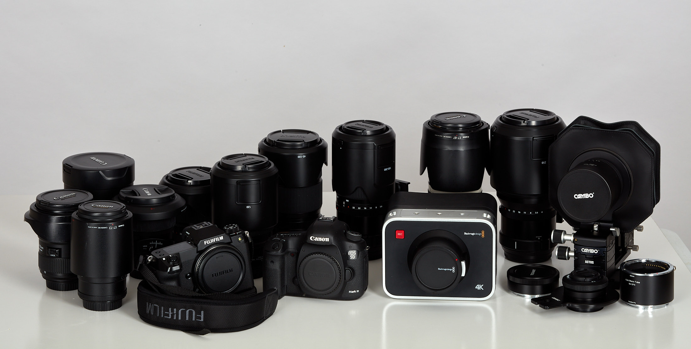 Fujifim blackmagic and Canon Lenses and cameras_Cameras and lenses