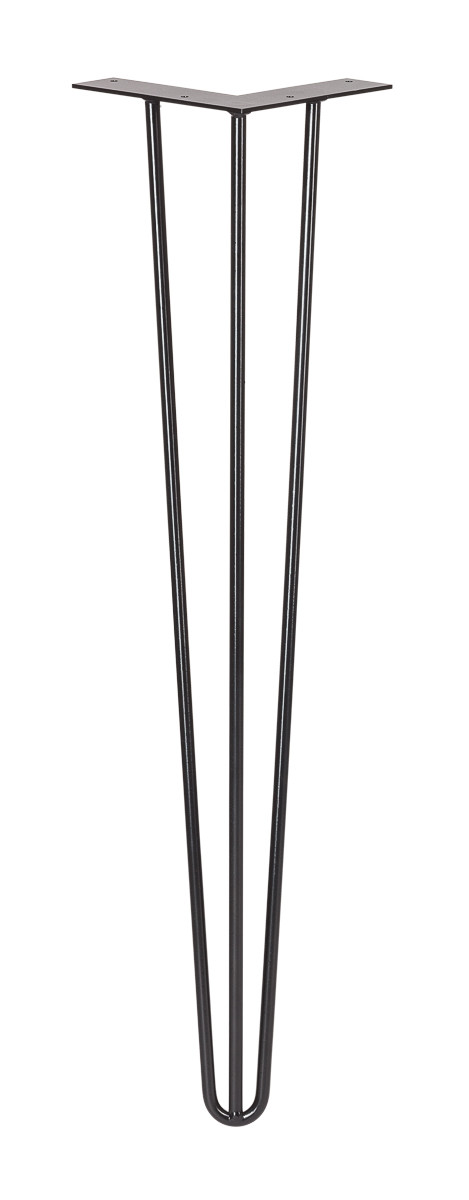 Furniture legs Hairpin Legs pin large black three bars front view