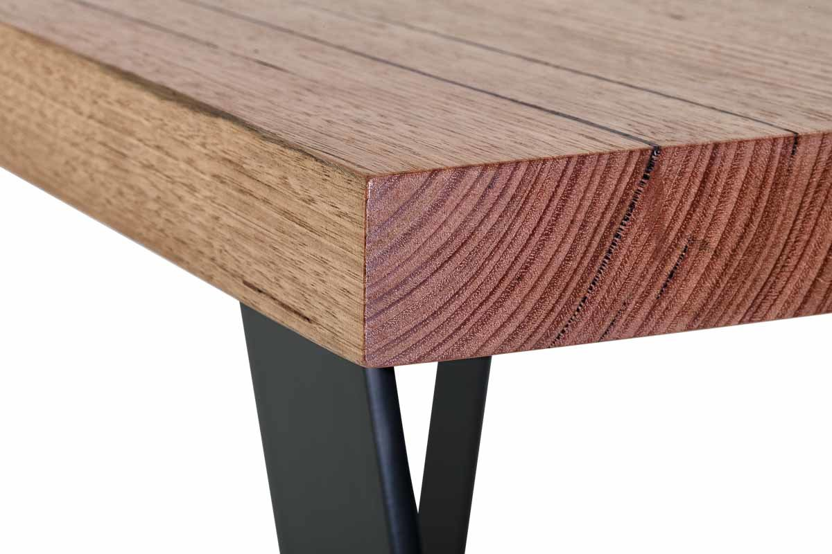 Furniture tables_big table BLACK trapezium legs_detail
