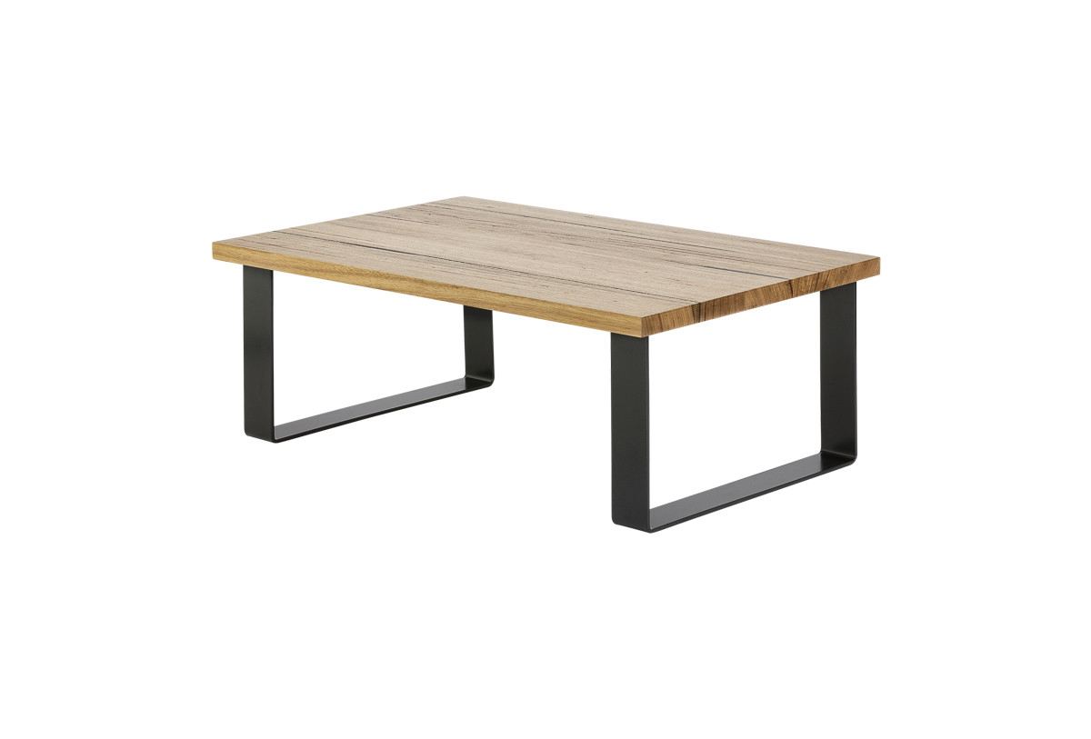 Small table BLACK trapezium SIDE