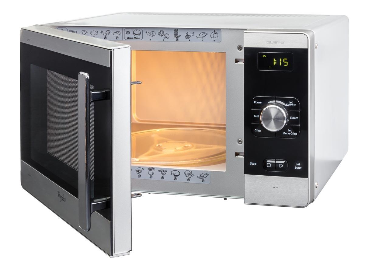 Microwave side view door ajar lights on
