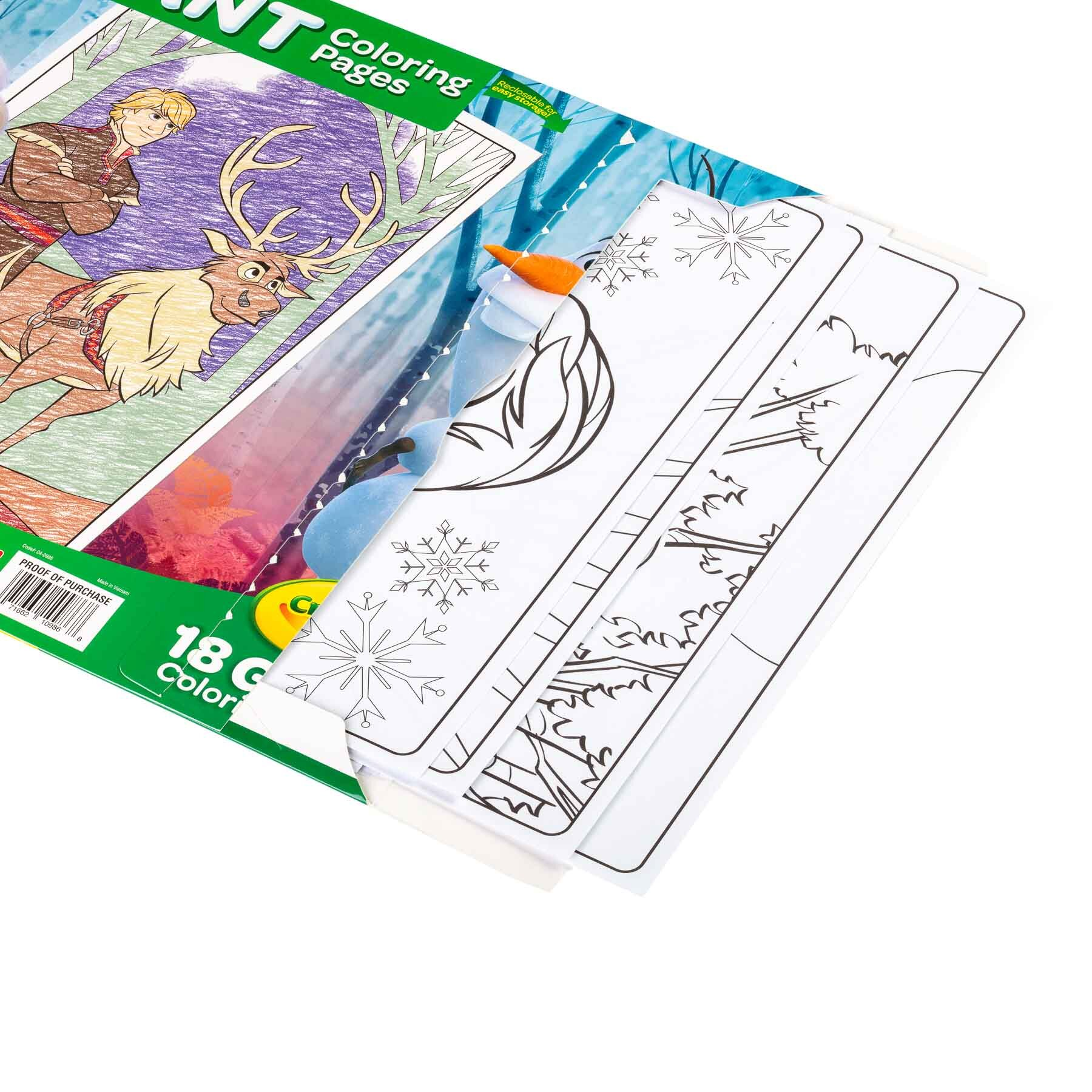 Giant Coloring Pages Frozen II Open Pack Books and publication product photography sample