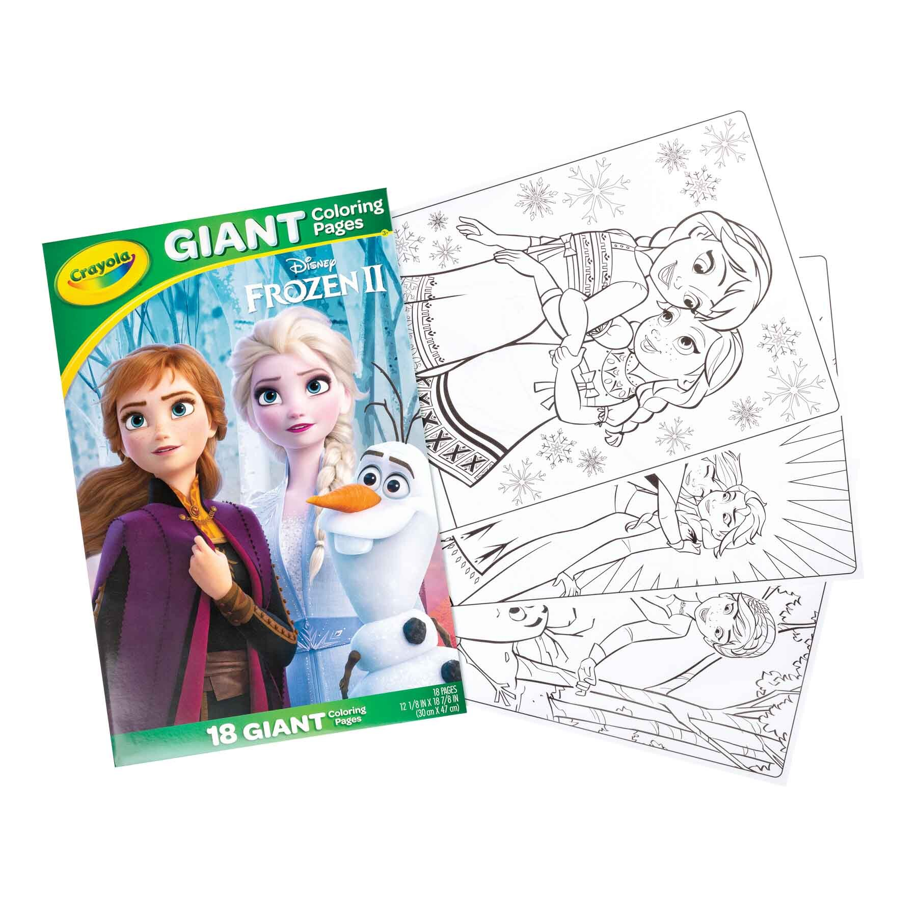 Giant Coloring Pages Frozen II front and pages - Books and publication product photography sample