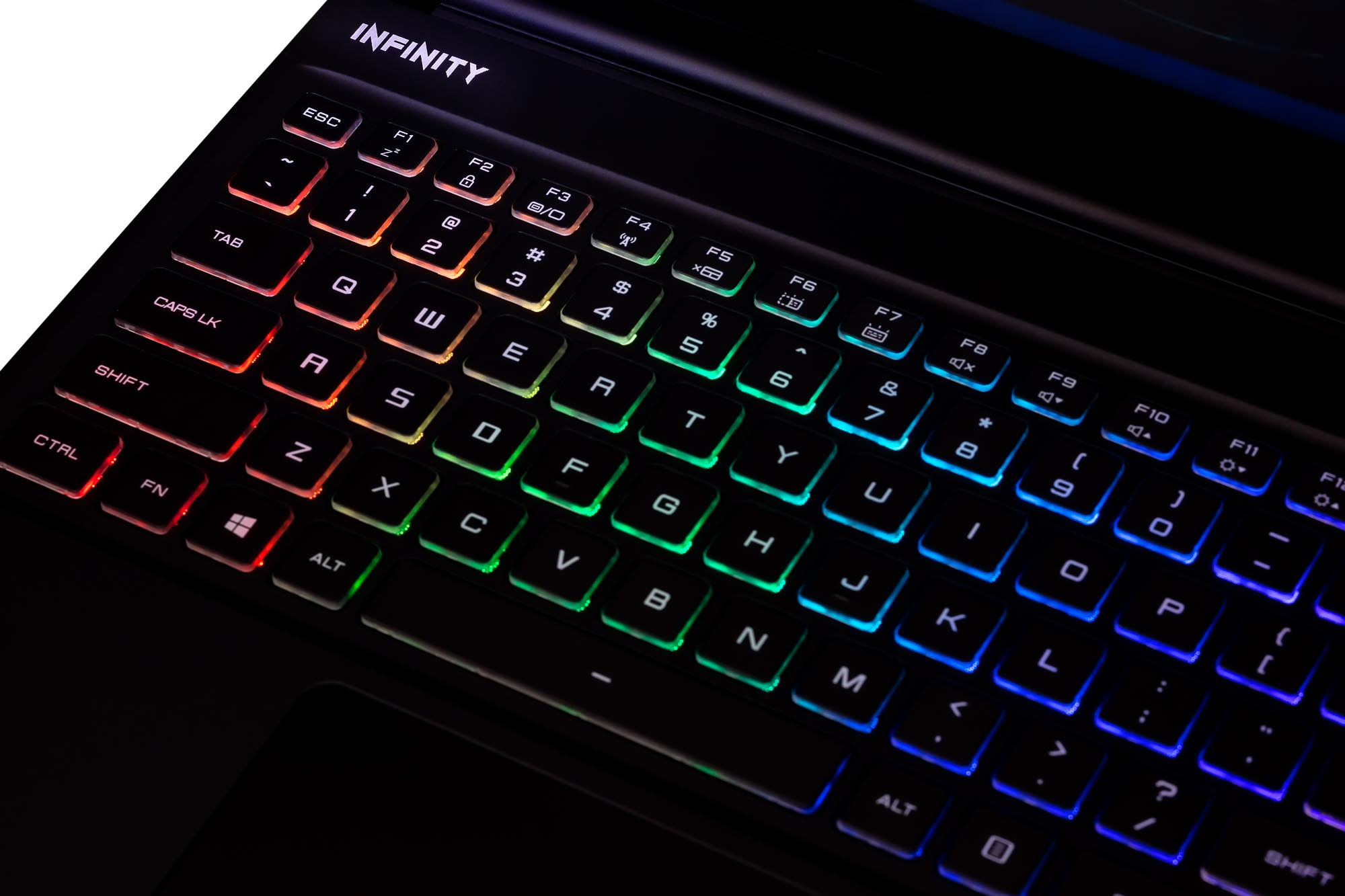 Infinity Notebook-Closeup Keyboard