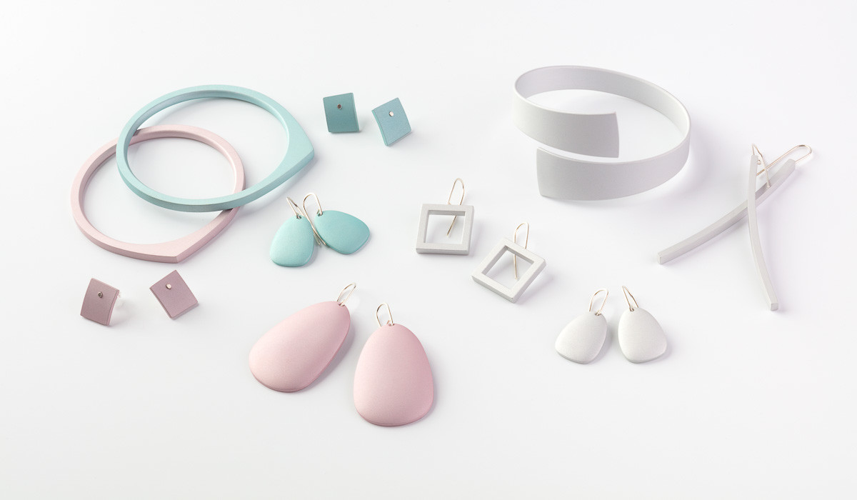 Kalinowski Jewellery 2016 collection Pink, light blue and white pieces