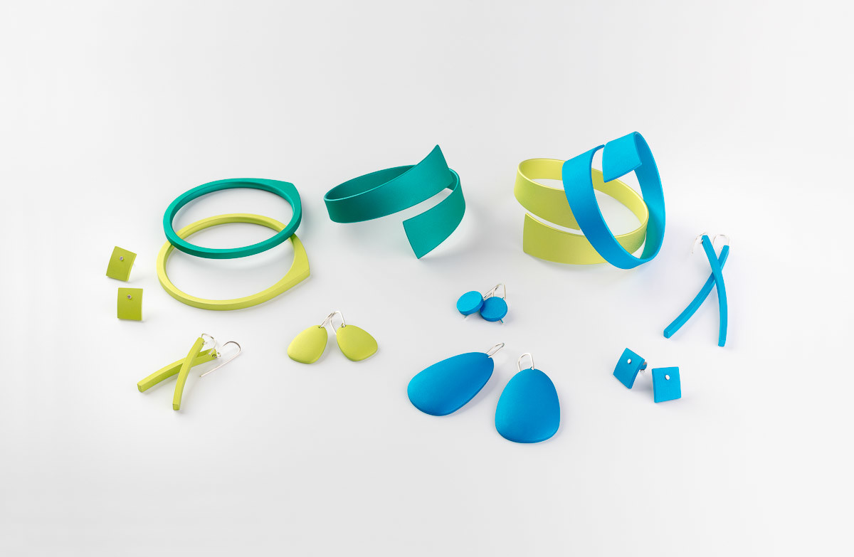 Kalinowski Jewellery 2016 collection Lime, yellow and blue items