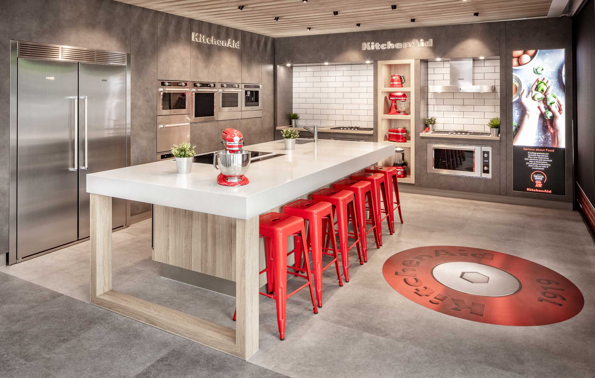 Kitchenaid display Showroom - Advertising photography