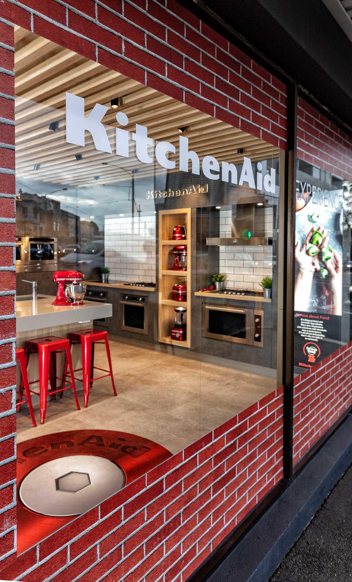 Kitchenaid display showroom - Advertising photography
