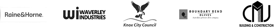 Clients Knox City Council, CMJ Constructions, Boundary Bend, Rine and Horne and Waverly Industry