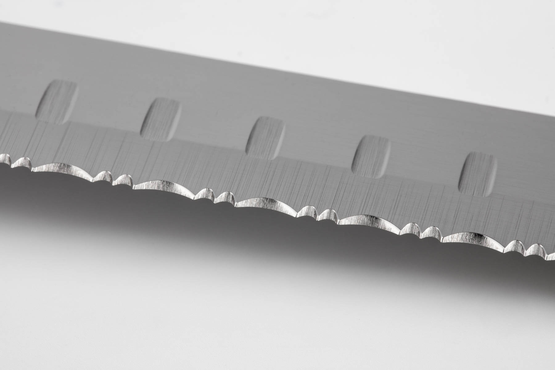 Longer Knife Blade Closeup View - Reflective product photography sample