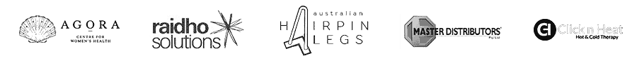 Clients Masters Distributors, Agora Centre, Australian Hairpin Legs and Raidoho Solutions