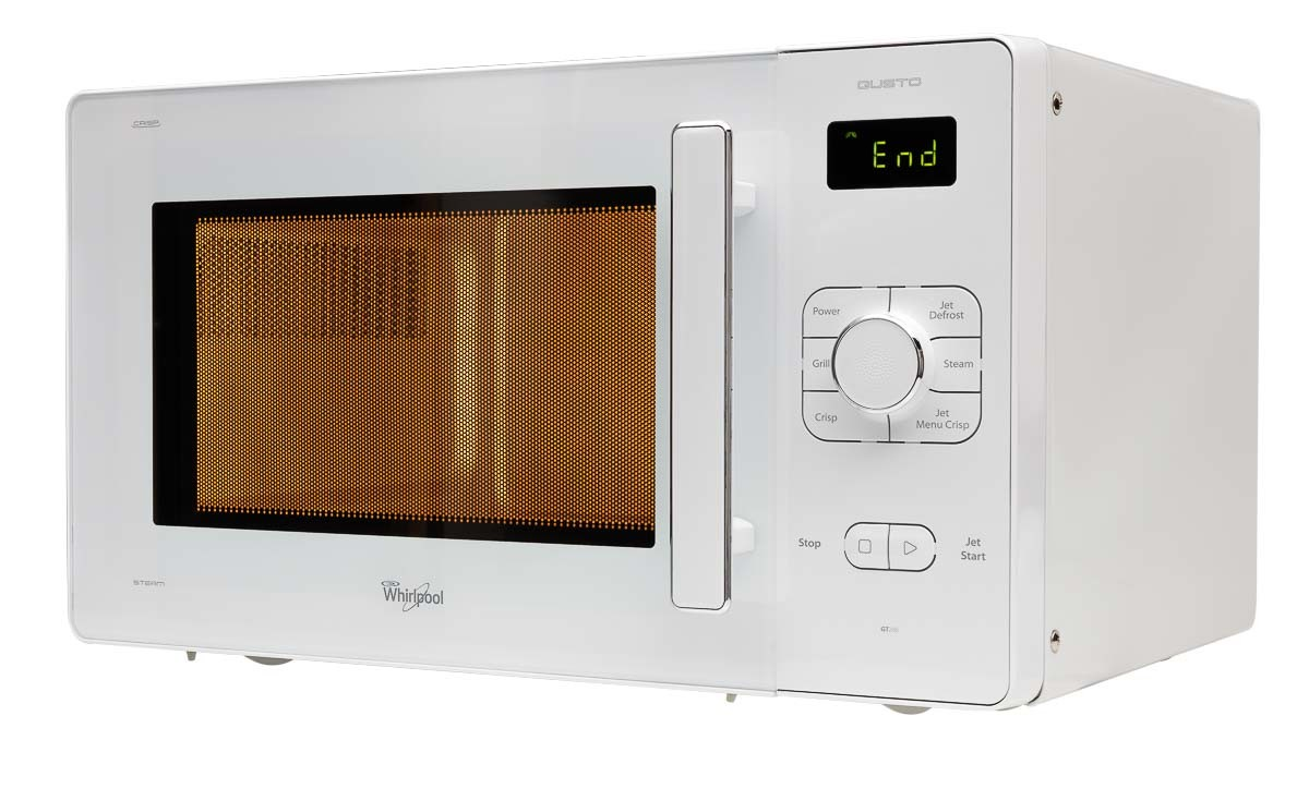 Microwave oven left view