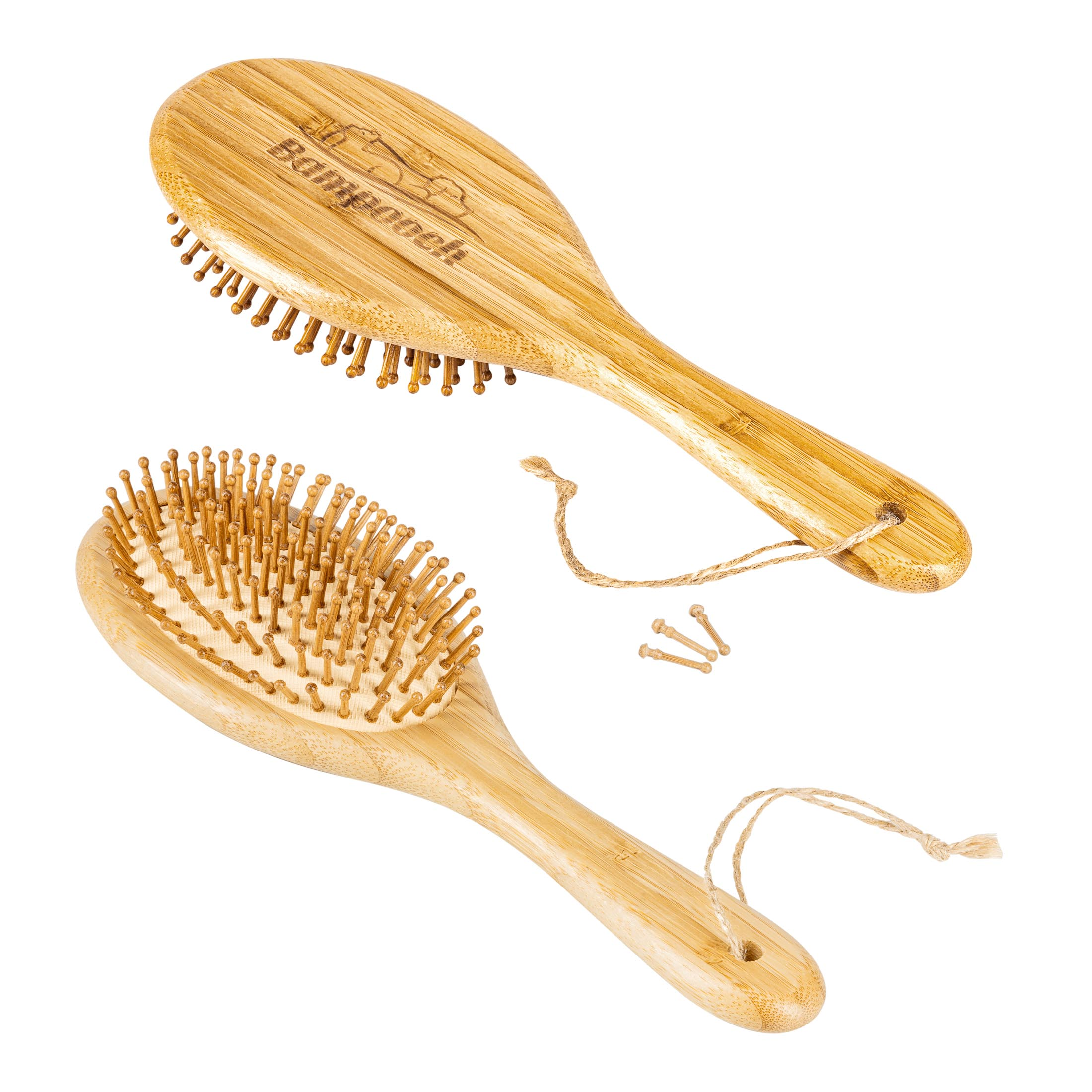 Pet Brush Main photo with two sides and 3 pins - Sample of photography for Amazon