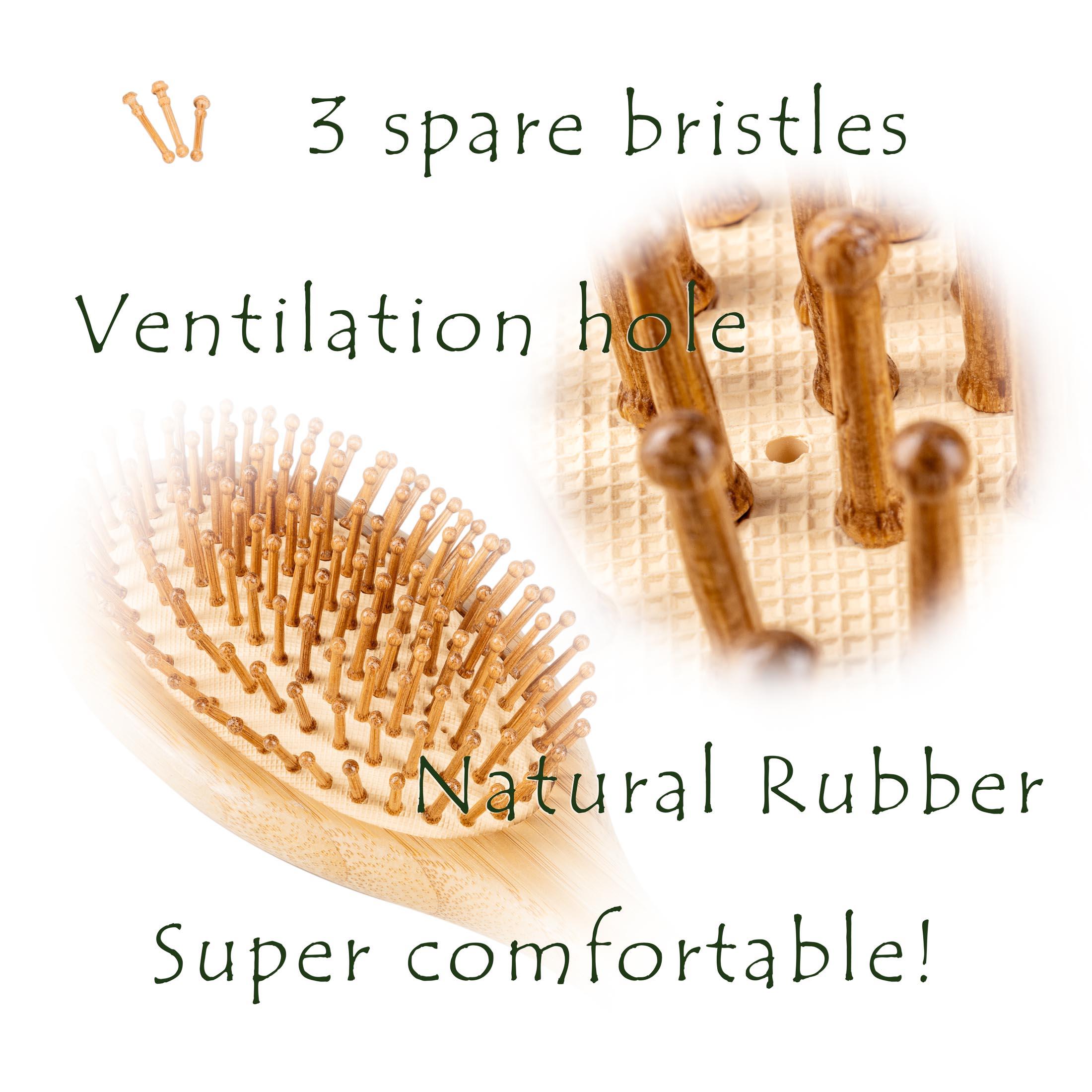Pet Brush extra bristles and hole - Amazon Product Photography Sample