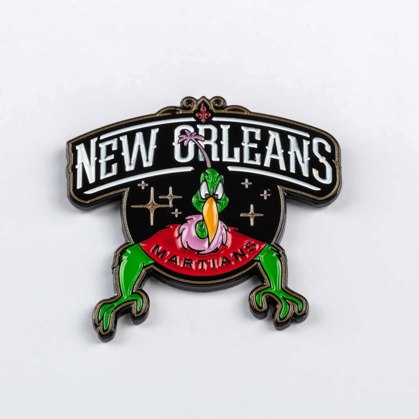 Pin 500 New Orleans Martians product photography
