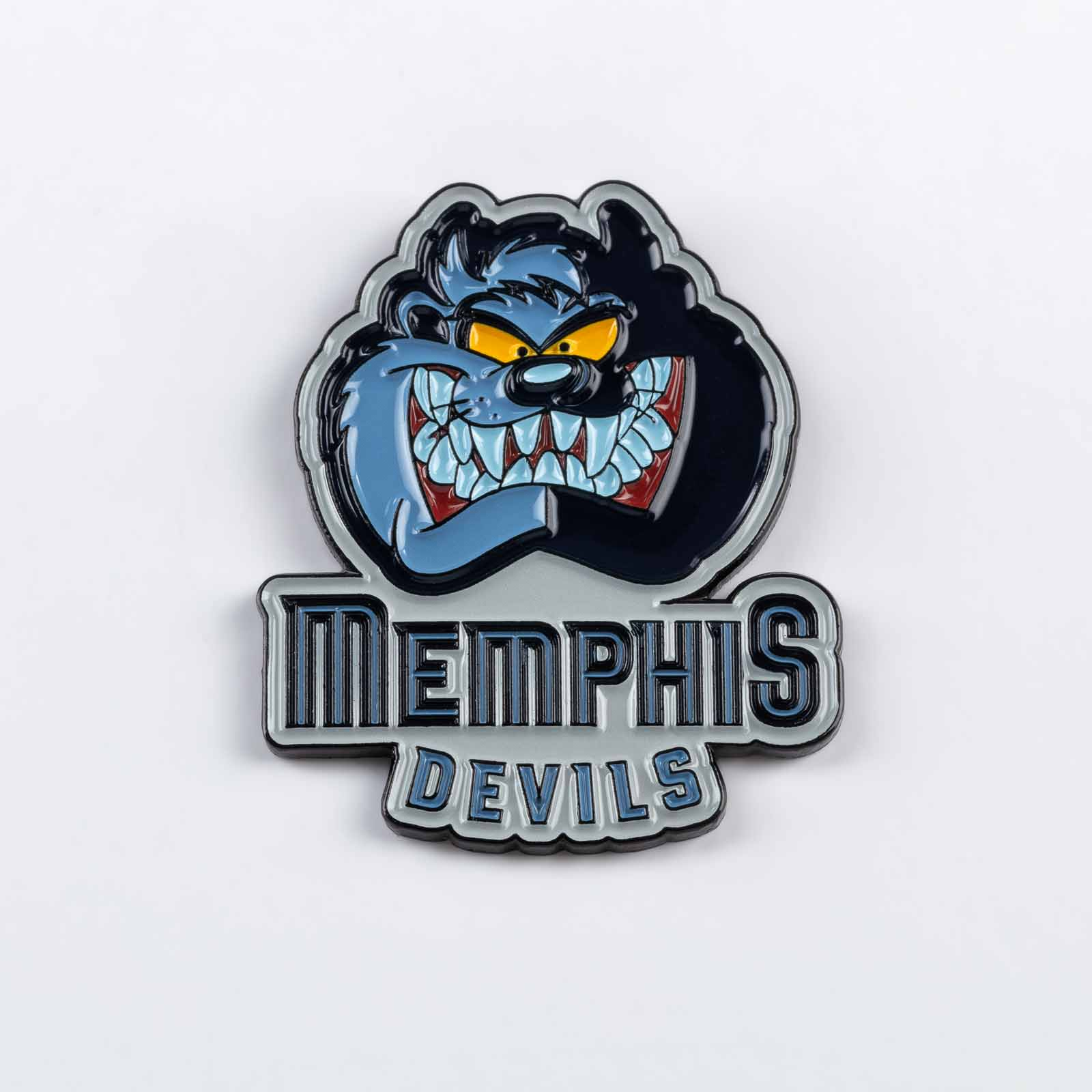 Pin 513 Memphis Devils product photography