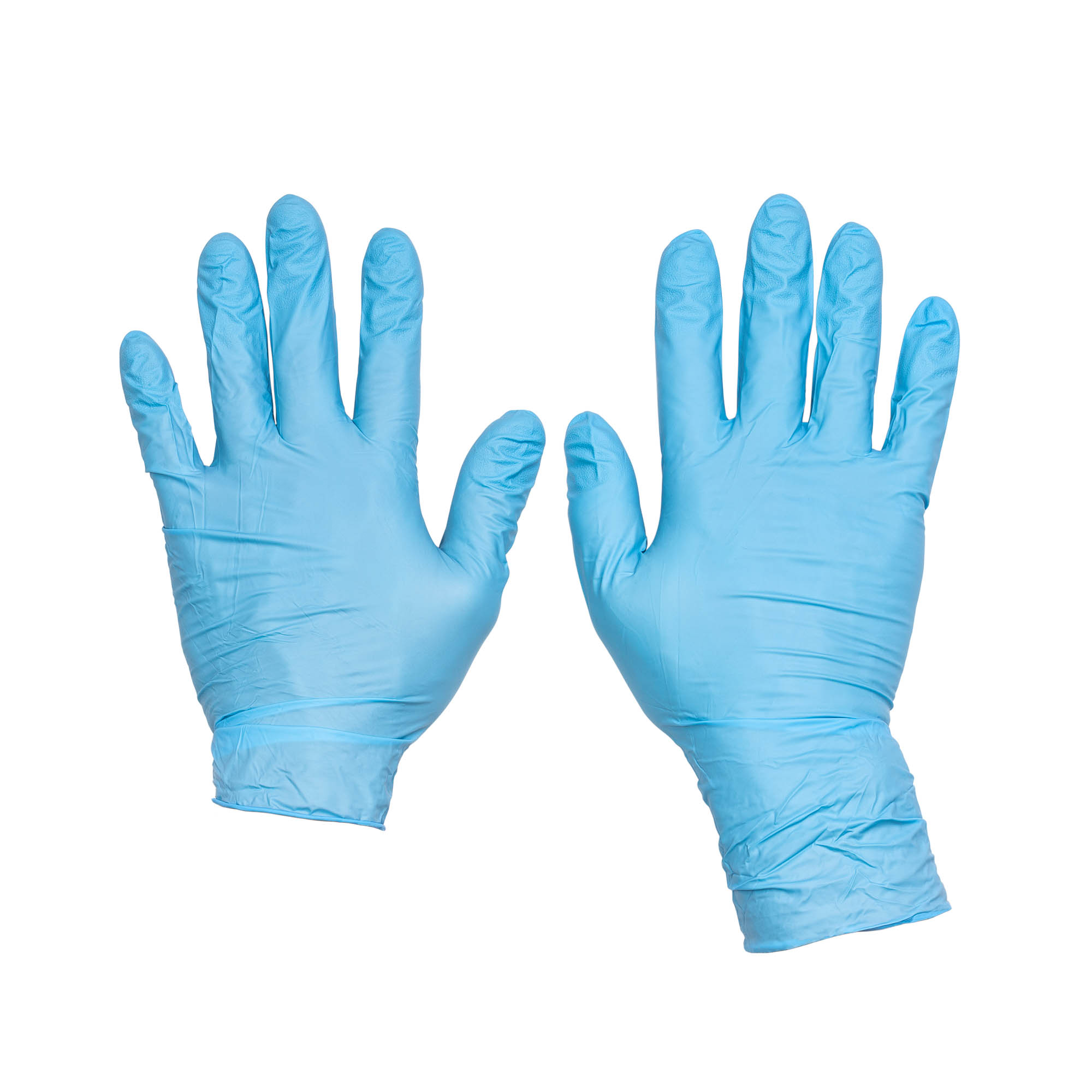 Pro Clean Blue Glove two sizes compare - Sample of product photography