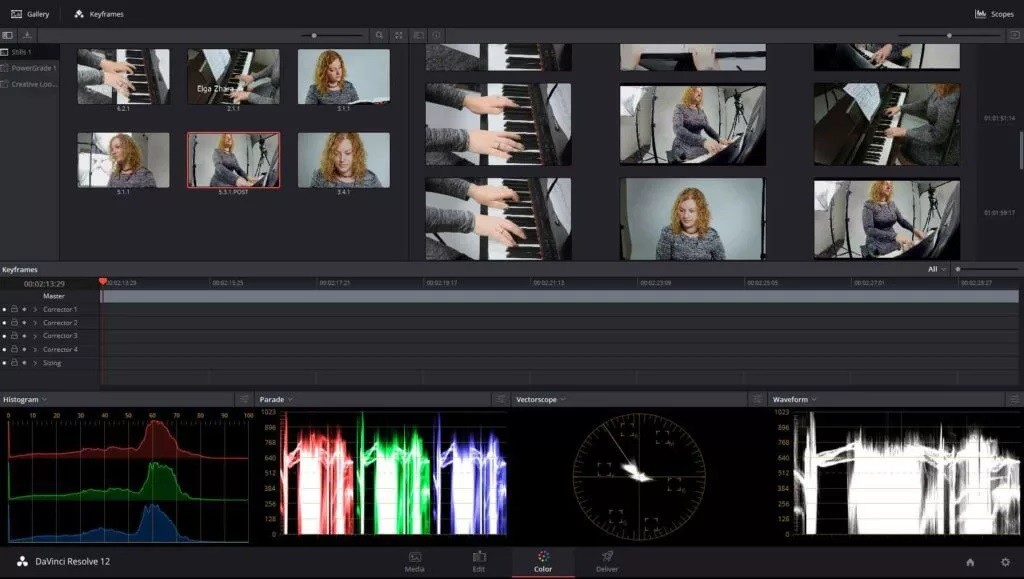 Davinci resolve edit page