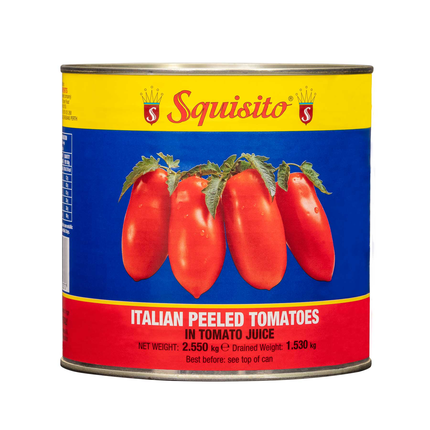 Large can Italian Pelled Tomatoes - Product Photography sample