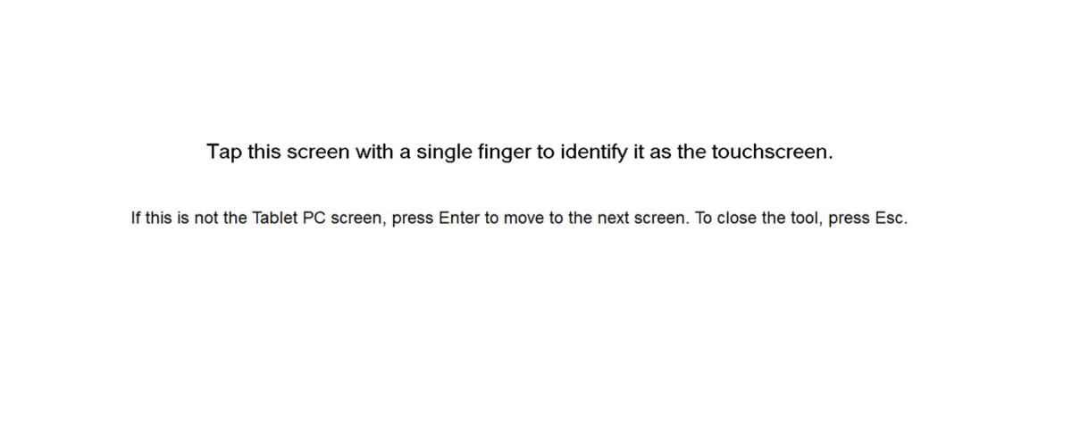 Touch screen identification