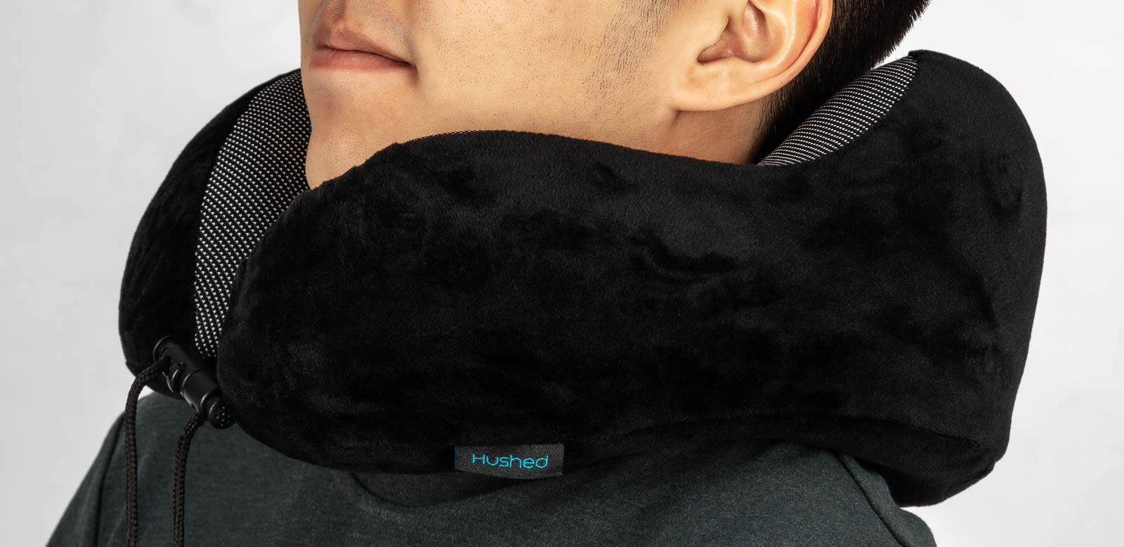 Travel Pillow in use - Amazon product photography