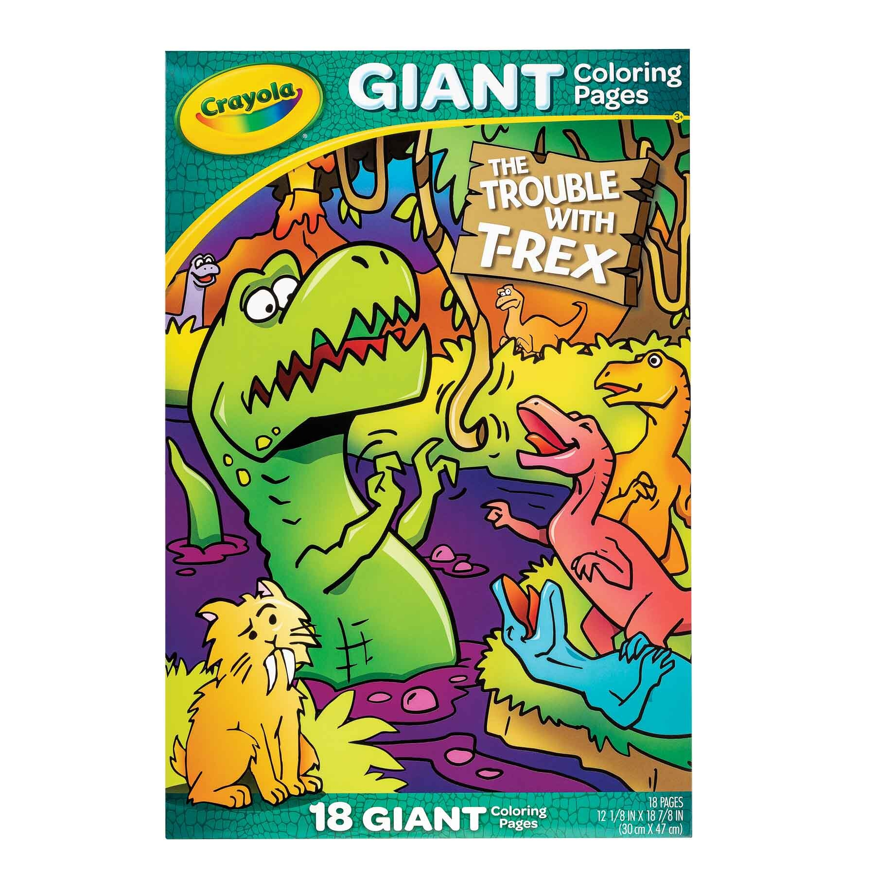 Trex Giant colouring Pages Front View - Product photography for e-commerce