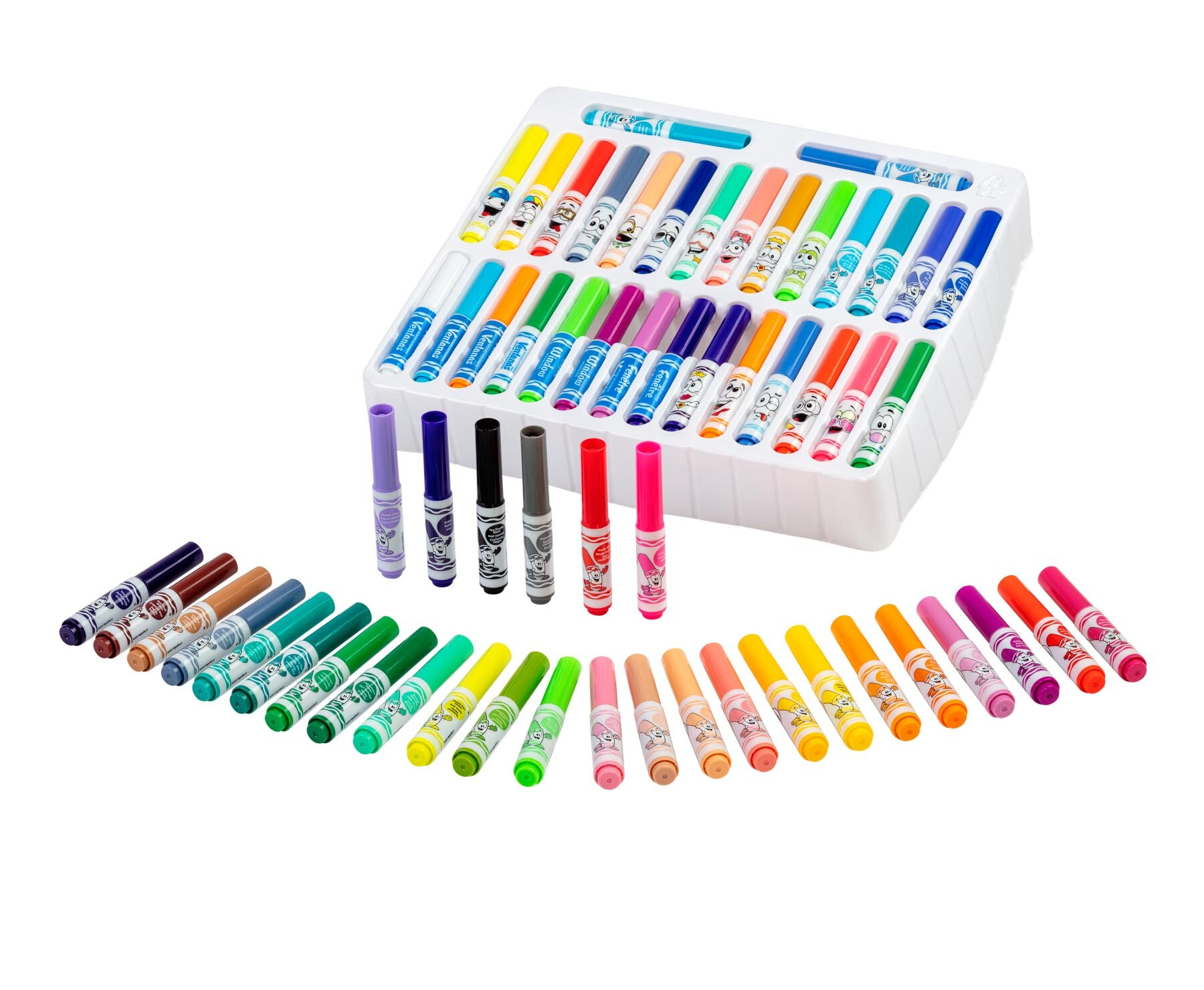 Ultimate Mini Marker set Group without box - Product photography of coloring markers