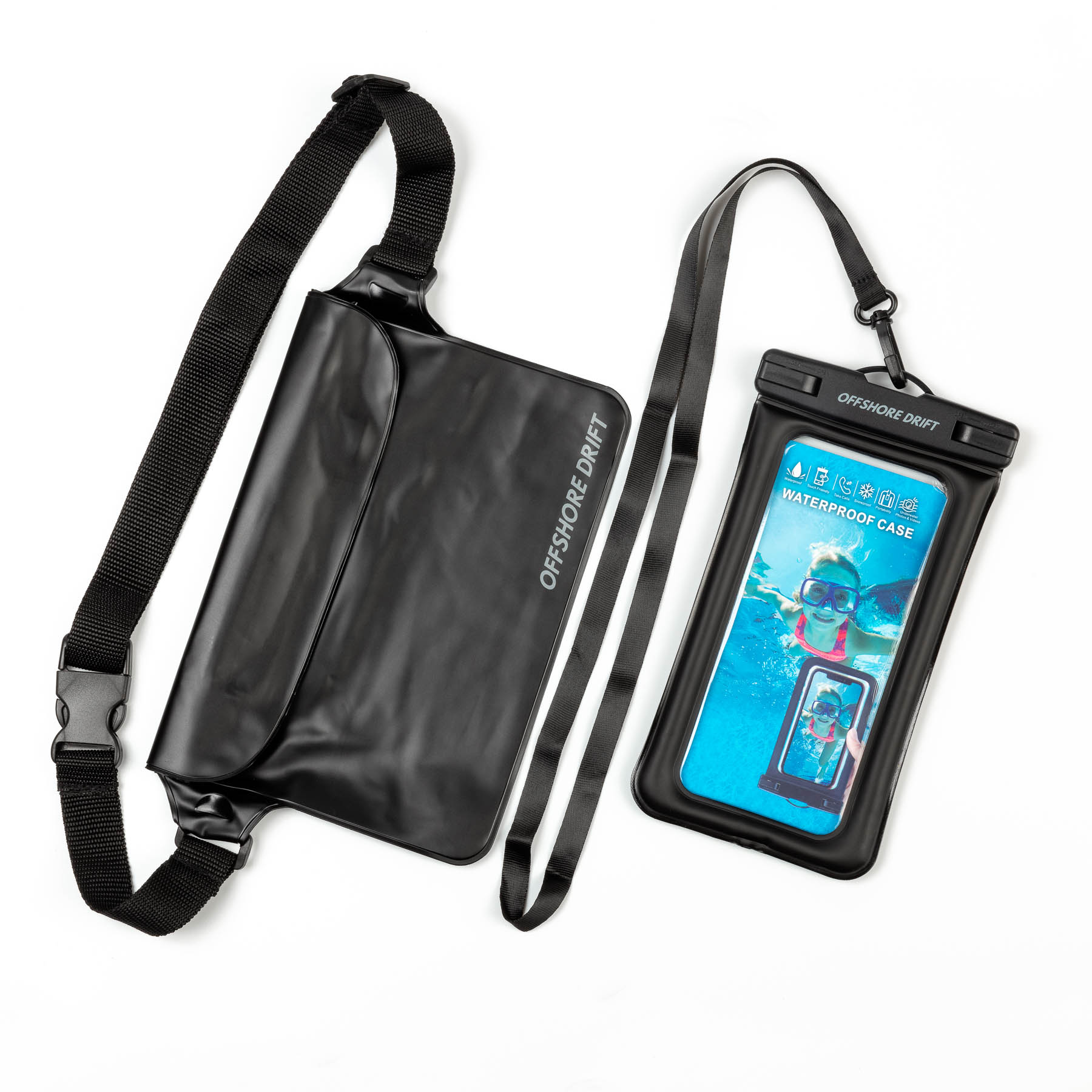 Underwater phone bag and Pouch lay flat Main