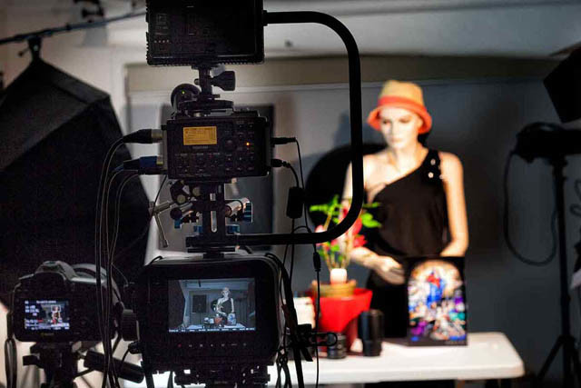 Video production showing behind the-scene in studio during recording 640px